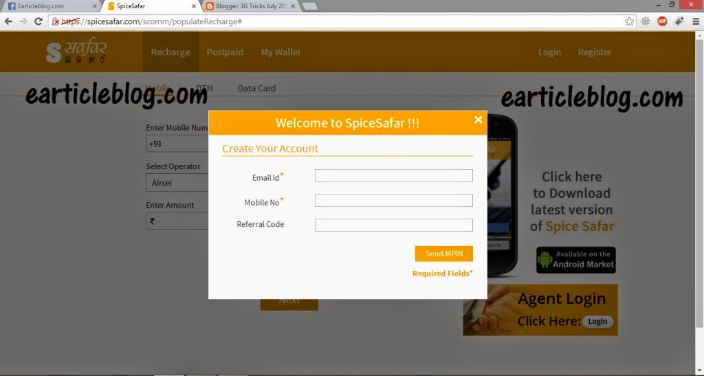 how to get free mobile recharge code
