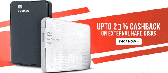 Paytm Mall Loot Get 20 Paytm Cashback On External Hard Disk