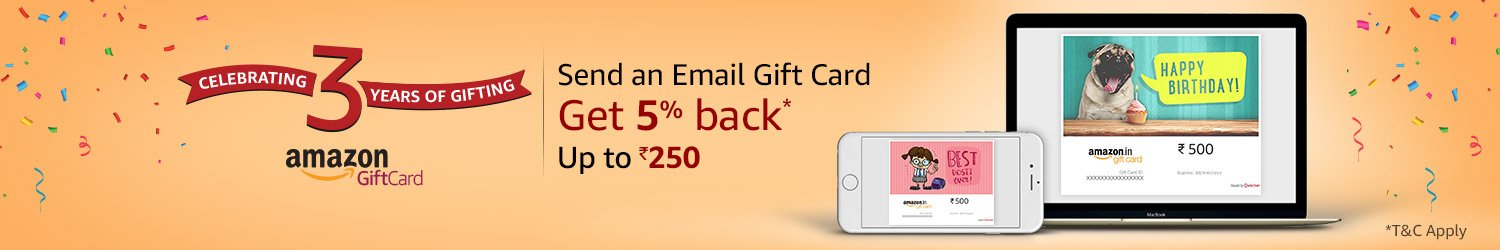 Get 5% Cashback on purchase of Amazon Email Gift Cards - Earticleblog