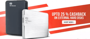 Paytm External Hard Disk Cash Back