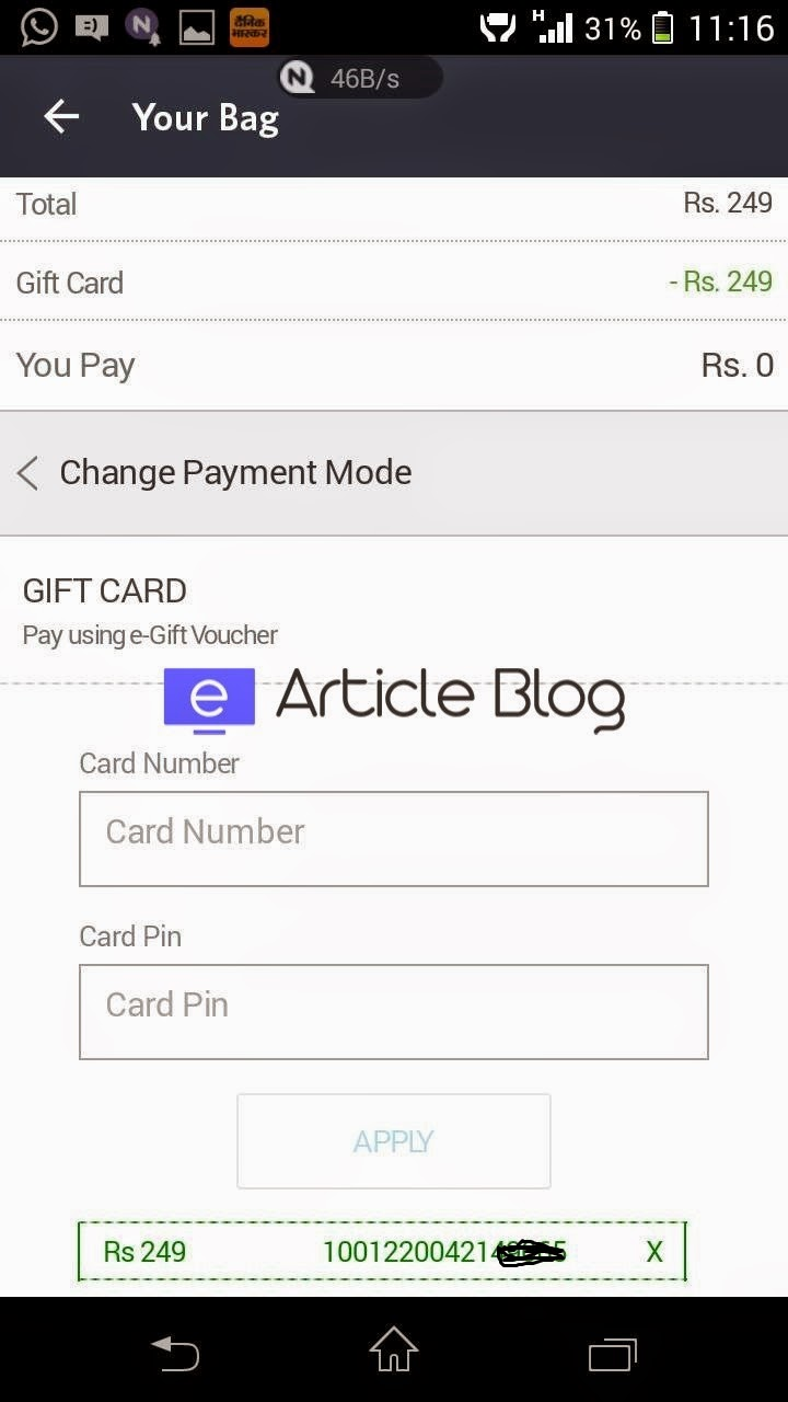 how to place order in myntra app