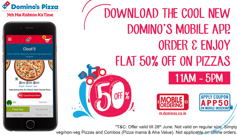 Dominos pizza online order coupons
