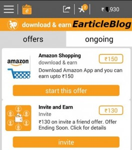 Earntalek time Rs150 amazon offer