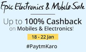 paytm 100 cashback epic electronic sale