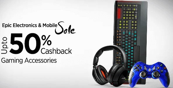 paytm gaming accessories cashback