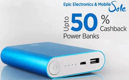 paytm powerbank cashback coupon