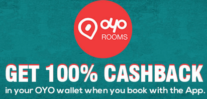 oyo rooms 100 cashback