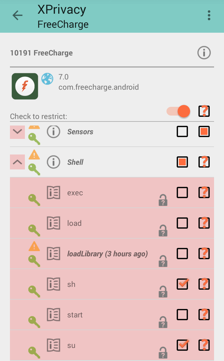 freecharge xprivacy trick