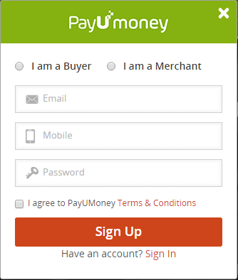 payumoney registeration