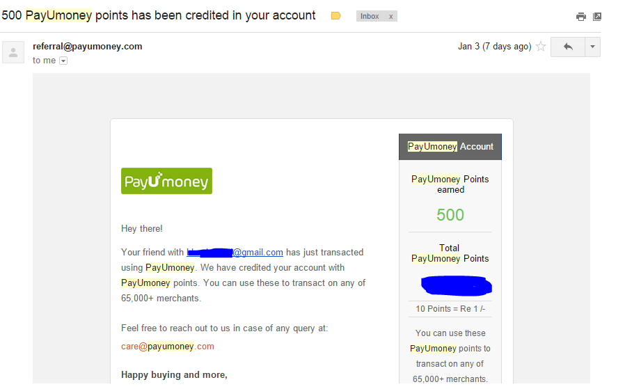 payumoney refer proof