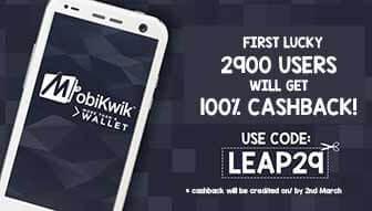 Mobikwik - Get 100% Cashback on Recharge