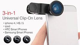 3 in 1 Universal Mobile Clip lens