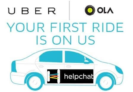 helpchat cab ride offer