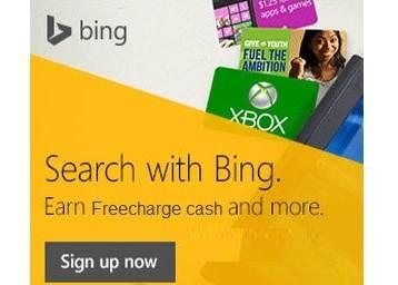 bing reward freecharge offer