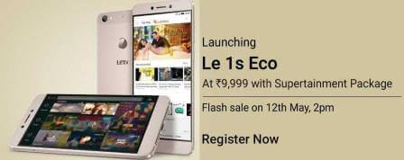 letv le 1s eco flash sale date