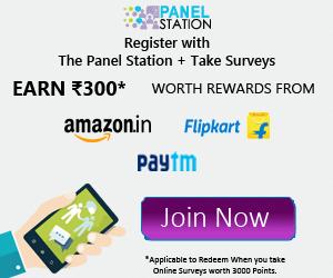 earn paytm freecharge cash panelstation survey