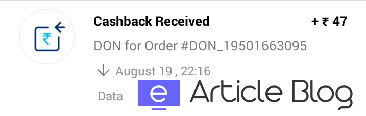 Earn Free Paytm Cash From Don App Proof EarticleBlog