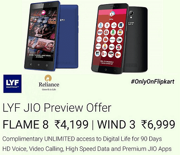 buy lyf reliance mobile jio preview offer