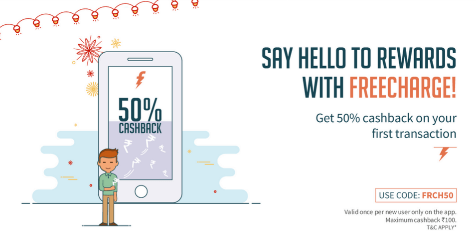 Image result for Find maximum cash back bonus rewards on freecharge promo and coupon code