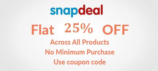 Snapdeal discount coupon 2018