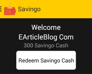 Savingo points on sign up earticleblog