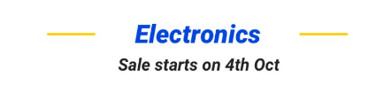 4th Oct Flipkart Electronic Sale