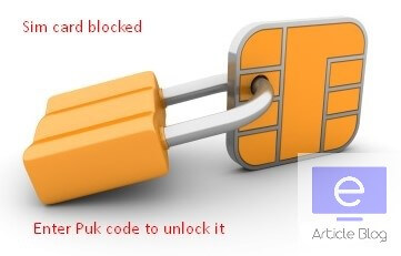 how to unlock a puk code vodafone