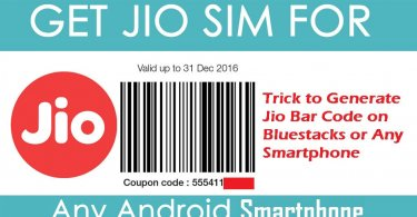 Generate Jio Code Using Bluestacks