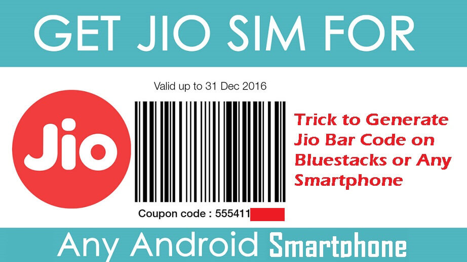 Generate Jio Code Using Bluestacks