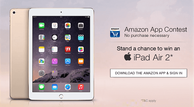 Amazon India App Contest iPad Air 2