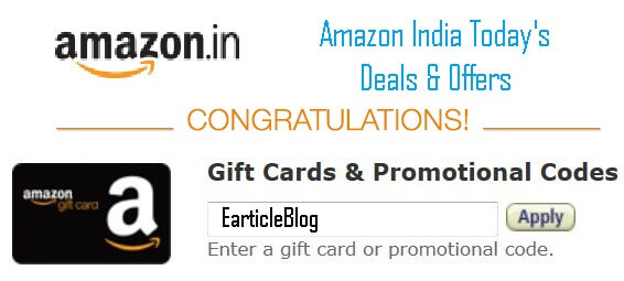 Amazon India Coupons & Offers. With amazon promotional codes and deals listed below you need not to wait anymore for any sale. Just apply these promo codes or grab these deal and