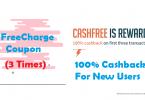 Freecharge Coupon 100X3