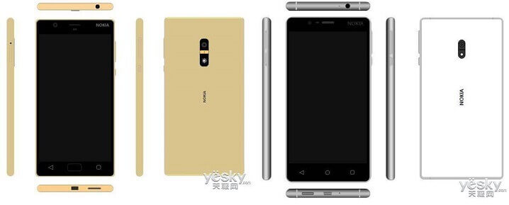 Nokia D1C Phone Gold and Whitejpeg