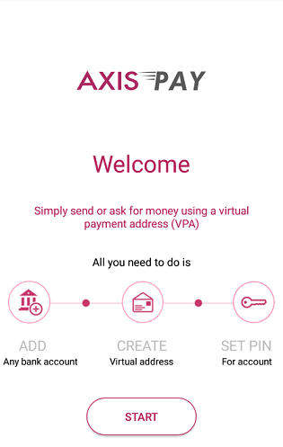 create upi axis bank virtual address
