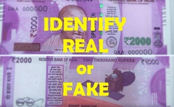 Identify Real or Fake Rs 2000