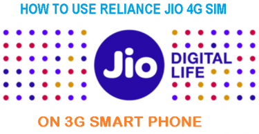 reliance jio on 3g phone