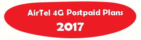 Airtel 4G Postpaid Plans