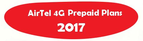 Airtel 4G Prepaid Plans