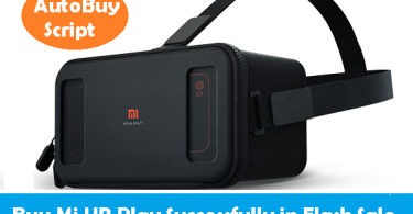 Buy Mi VR Play Flash Sale Trick