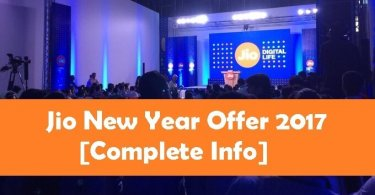 Jio New Year Offer 31st March 2017
