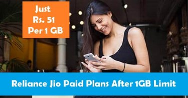 Reliance Jio Paid Plan Voucher