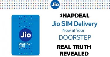 Snapdeal Jio SIM Home Delivery Offer