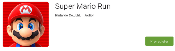 super mario run pre-register