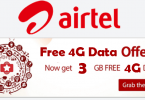 Airtel Free 3GB Data offer