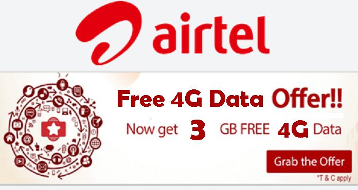 how to get free 2gb data in airtel