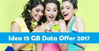 Idea 15GB Data Offer