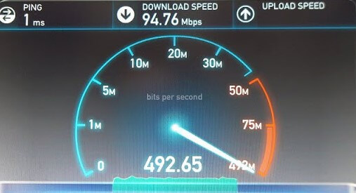 Jio Fiber Broadband Speed Test