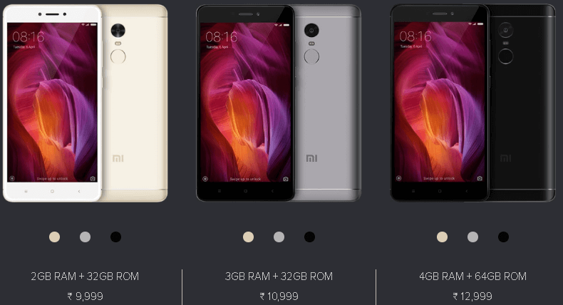 Mi Note 4 Variants