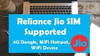 Reliance Jio 4G Dongle