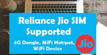Reliance Jio 4G Dongle
